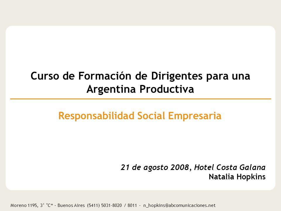 Curso de Formación de Dirigentes para una Argentina Productiva