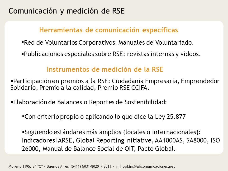 Comunicación y medición de RSE