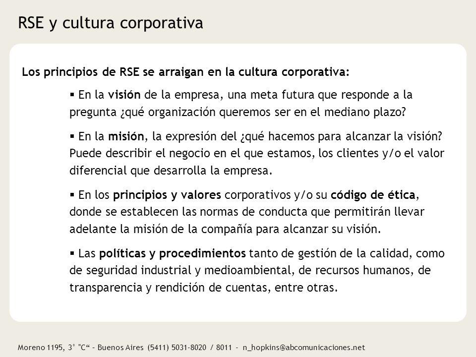 RSE y cultura corporativa