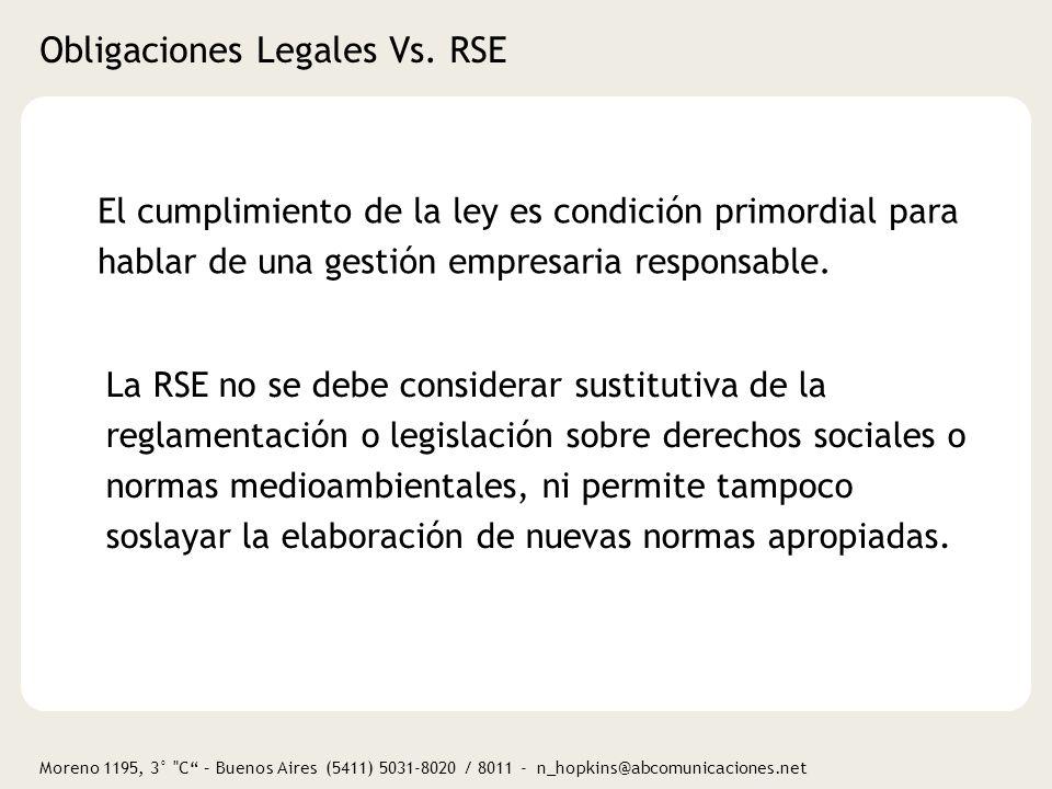 Obligaciones Legales Vs. RSE