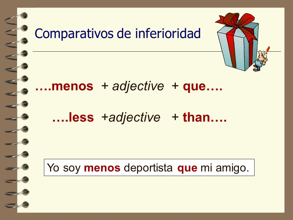 Comparativos de inferioridad