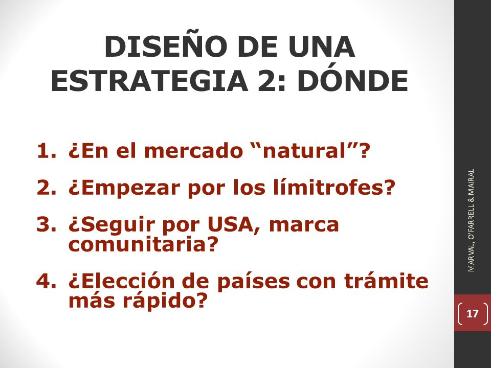 DISEÑO DE UNA ESTRATEGIA 2: DÓNDE
