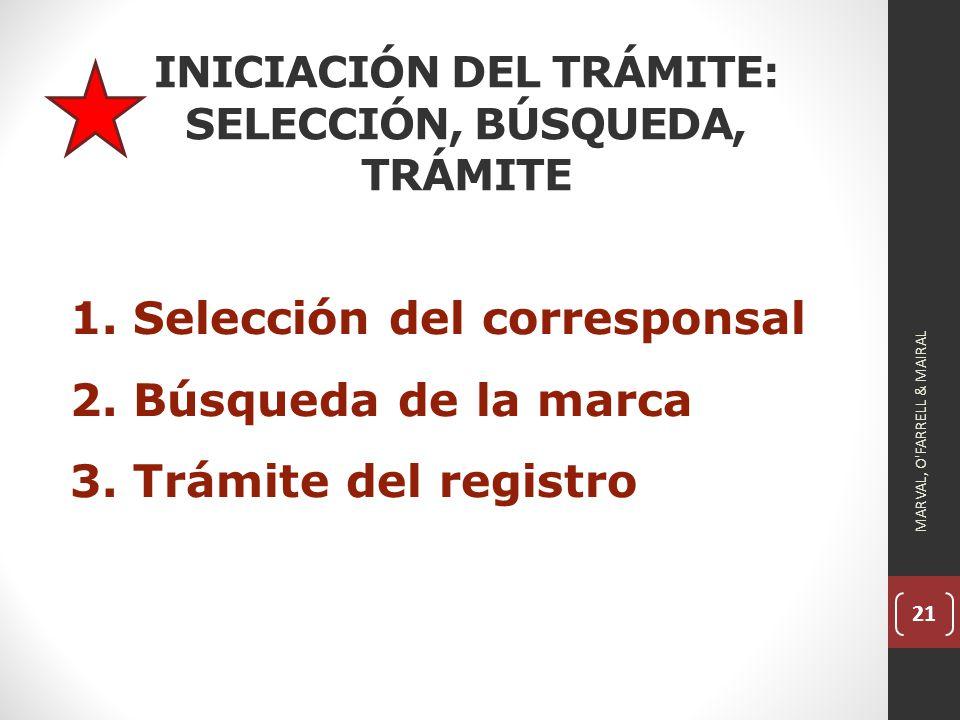 INICIACIÓN DEL TRÁMITE: SELECCIÓN, BÚSQUEDA, TRÁMITE