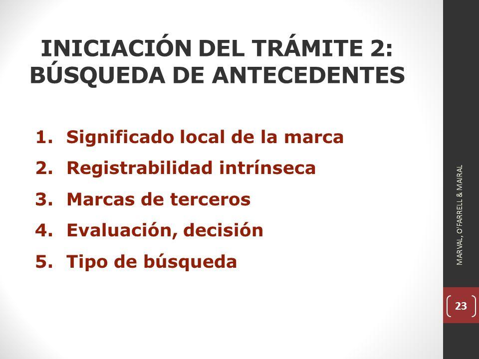 INICIACIÓN DEL TRÁMITE 2: BÚSQUEDA DE ANTECEDENTES