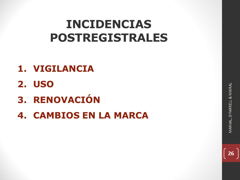 INCIDENCIAS POSTREGISTRALES