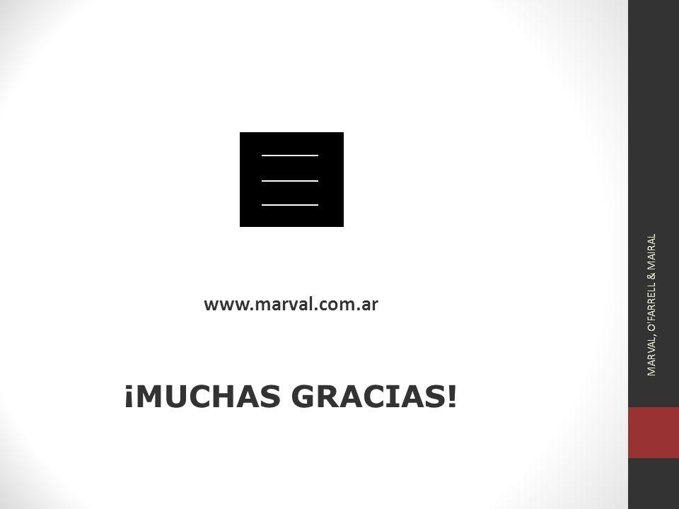 www.marval.com.ar ¡MUCHAS GRACIAS!
