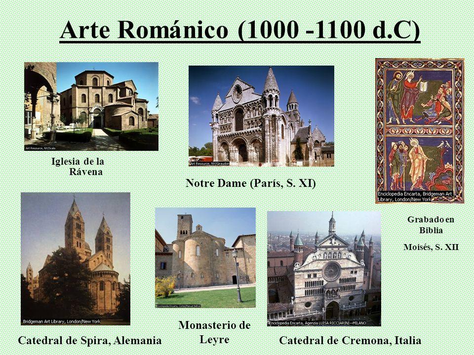 Arte Románico (1000 -1100 d.C) Notre Dame (París, S. XI)