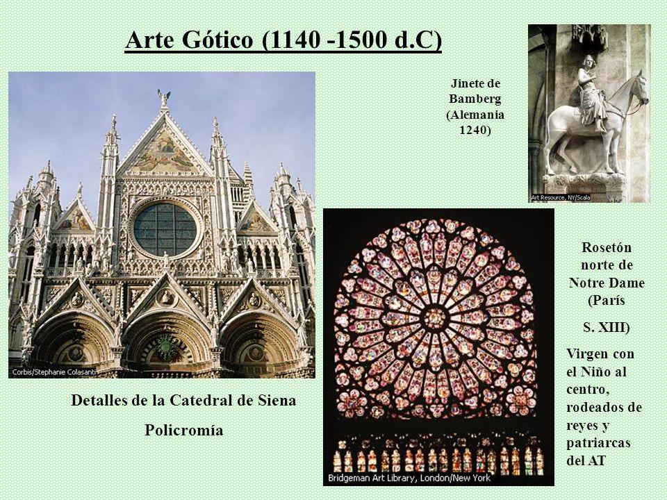 Arte Gótico (1140 -1500 d.C) Detalles de la Catedral de Siena