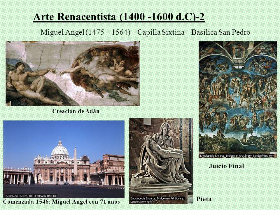 Arte Renacentista (1400 -1600 d.C)-2