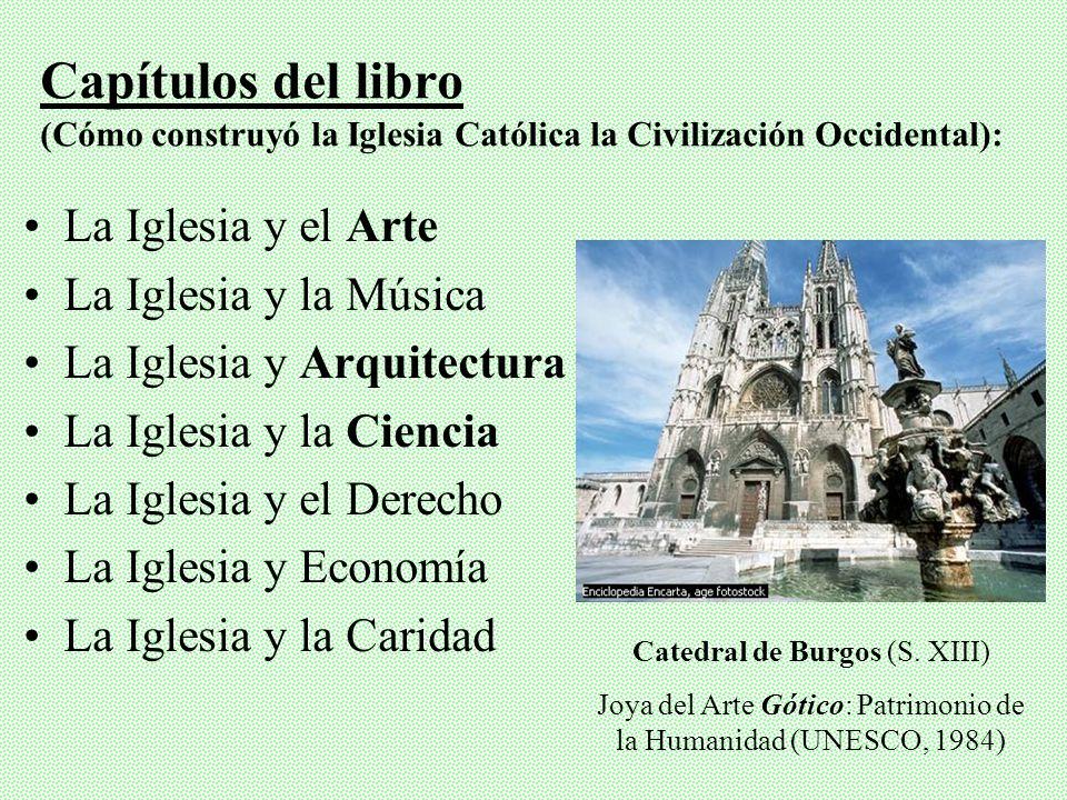 Capítulos del libro (Cómo construyó la Iglesia Católica la Civilización Occidental):