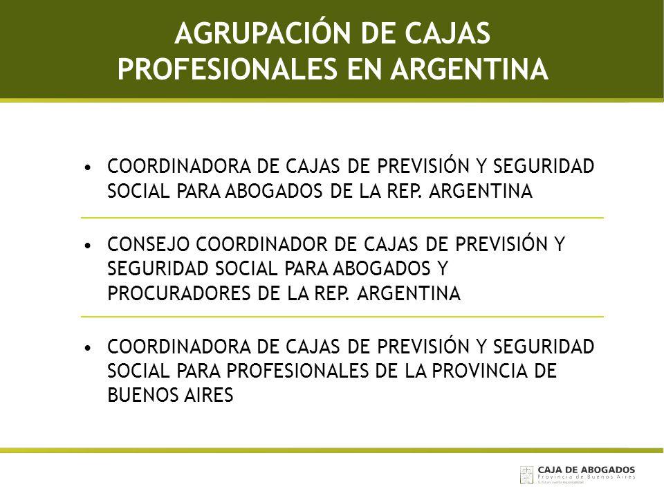 AGRUPACIÓN DE CAJAS PROFESIONALES EN ARGENTINA