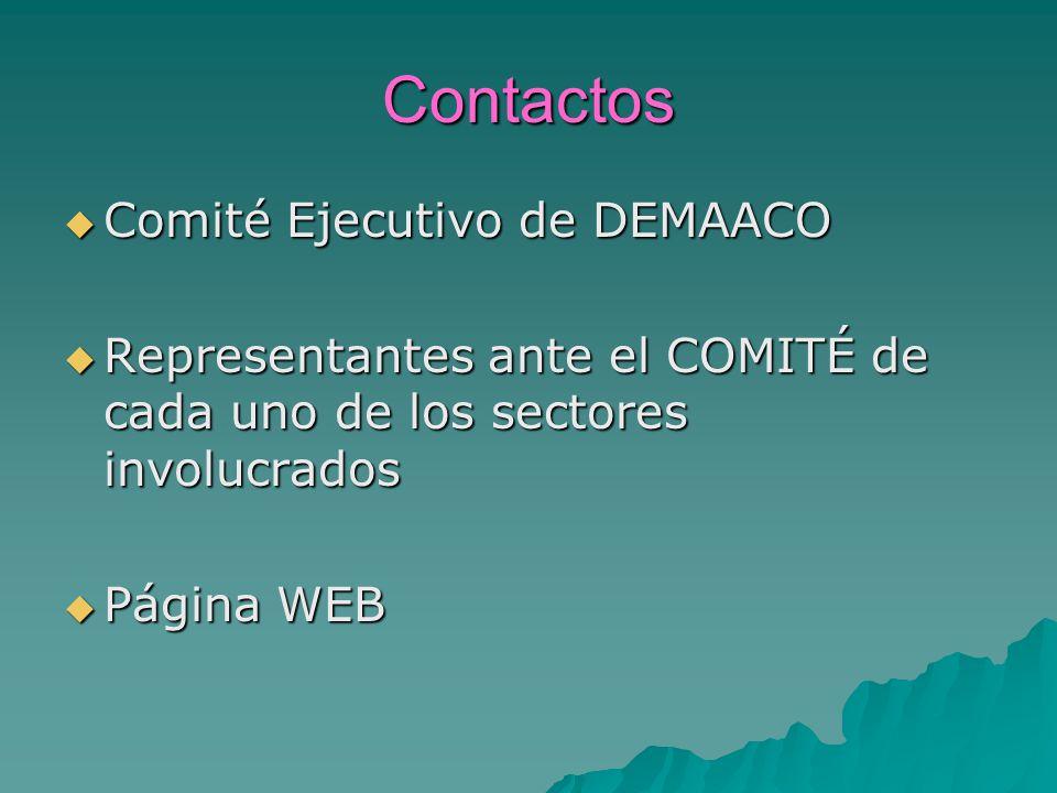 Contactos Comité Ejecutivo de DEMAACO