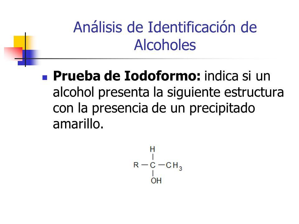 Análisis de Identificación de Alcoholes