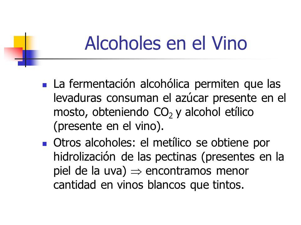 Alcoholes en el Vino