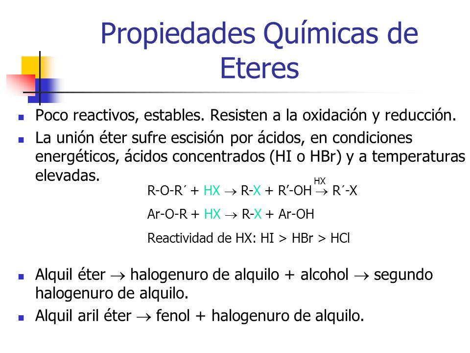 Propiedades Químicas de Eteres