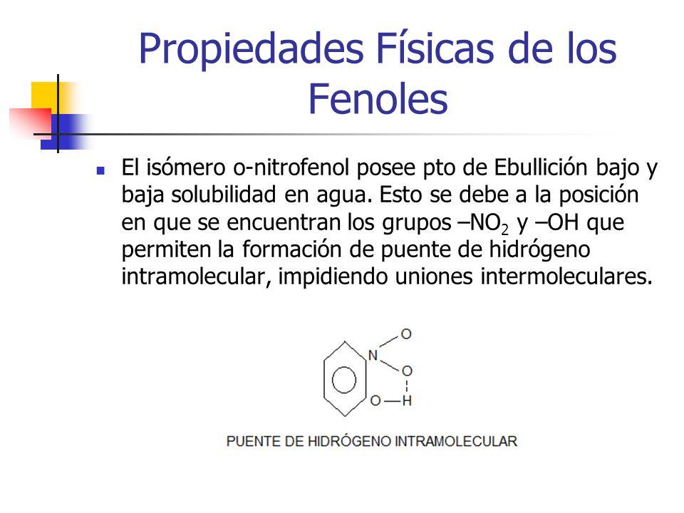 Propiedades Físicas de los Fenoles
