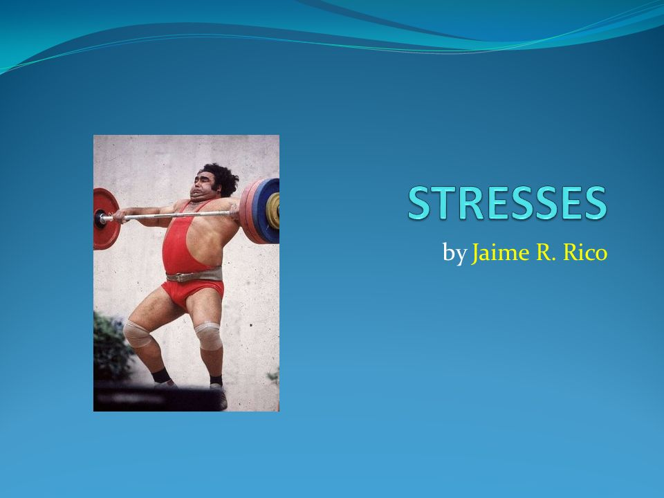 STRESSES by Jaime R. Rico