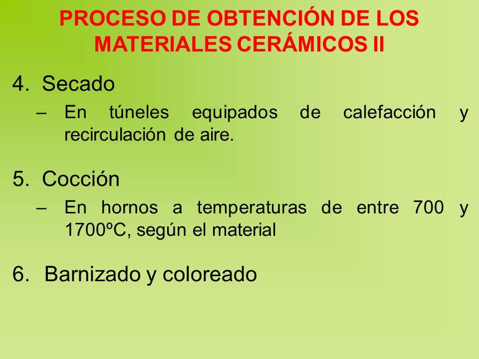 PROCESO DE OBTENCIÓN DE LOS MATERIALES CERÁMICOS II