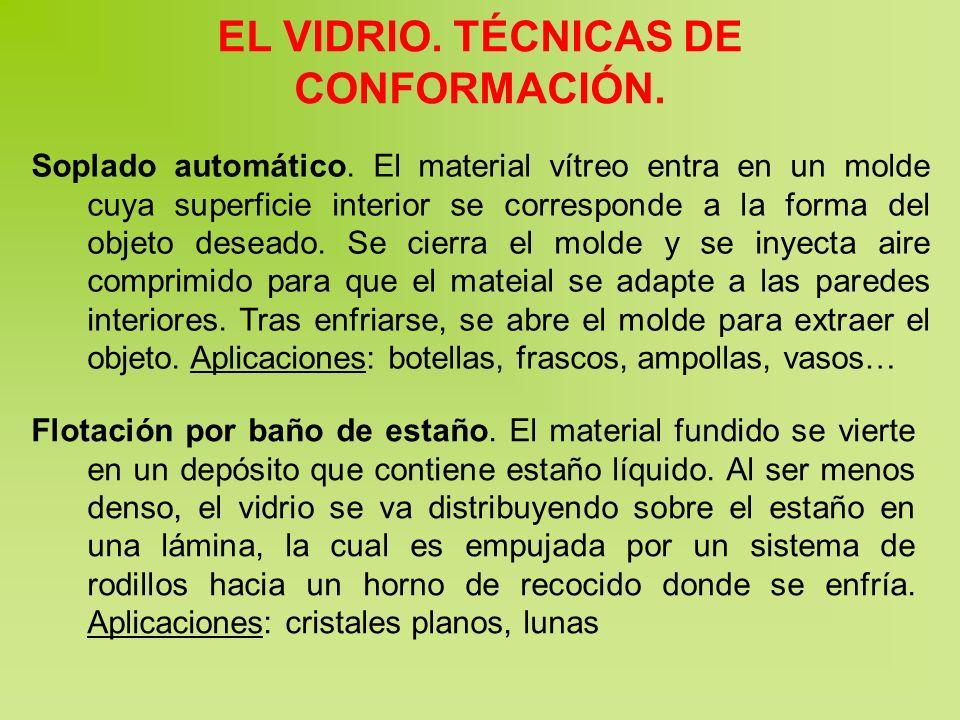 EL VIDRIO. TÉCNICAS DE CONFORMACIÓN.