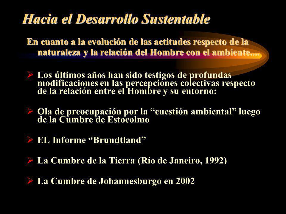 Hacia el Desarrollo Sustentable