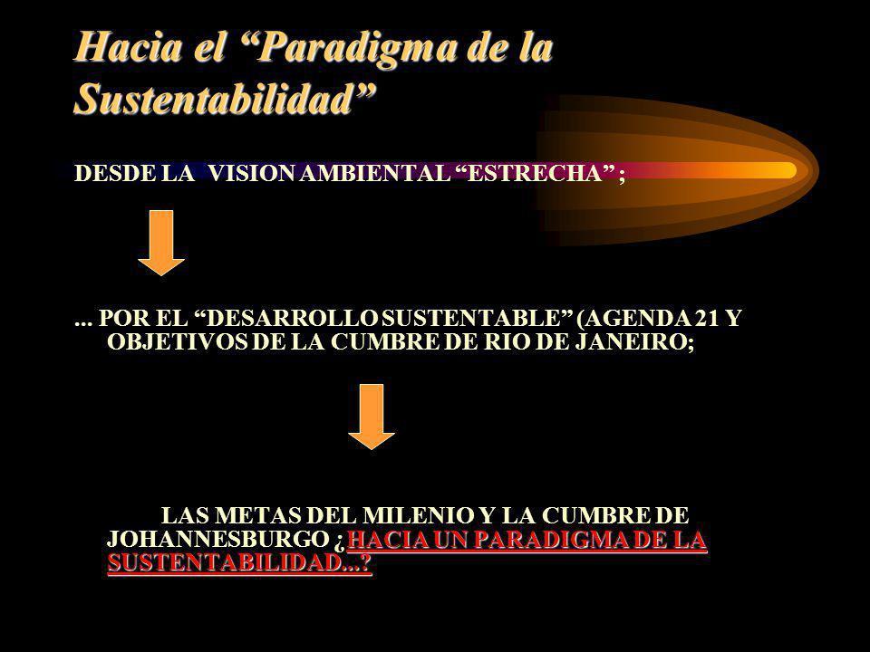 Hacia el Paradigma de la Sustentabilidad