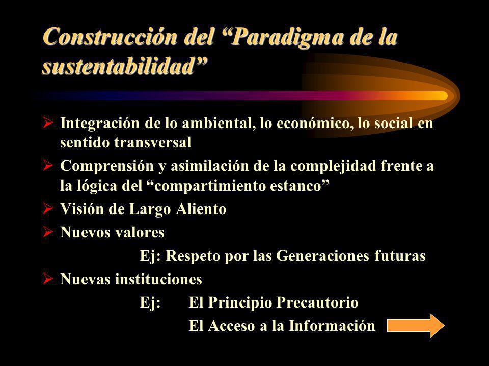 Construcción del Paradigma de la sustentabilidad