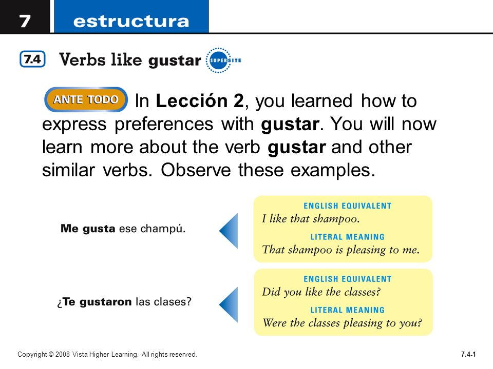 In Lección 2, you learned how to express preferences with gustar