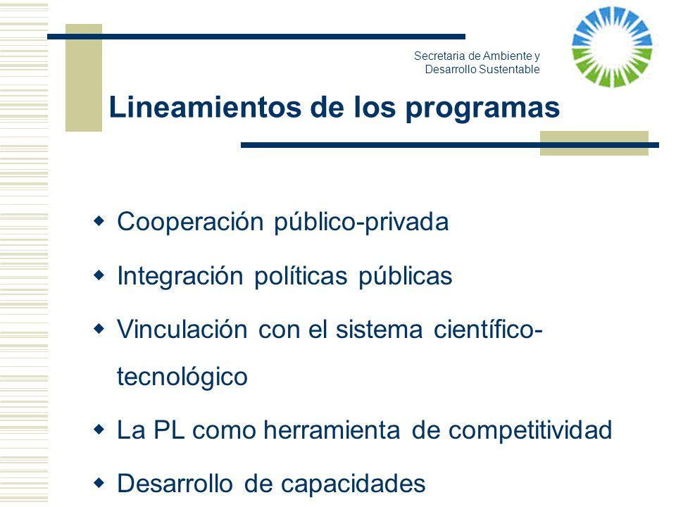 Lineamientos de los programas