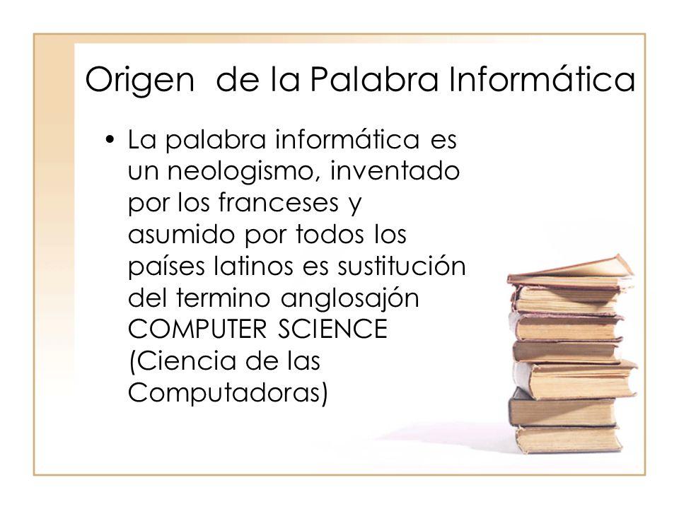 Origen de la Palabra Informática