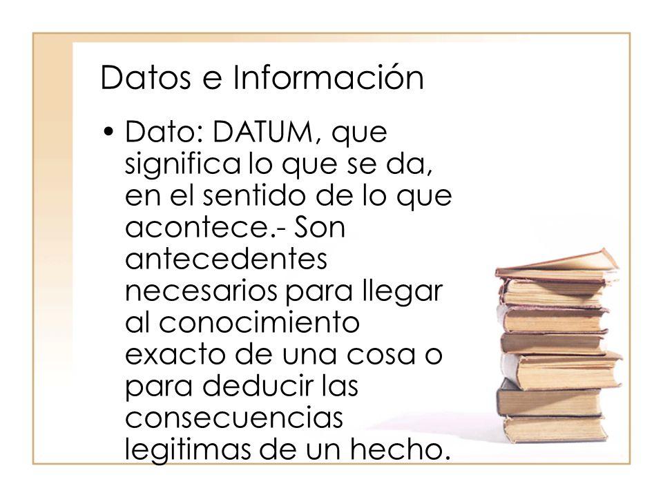 Datos e Información