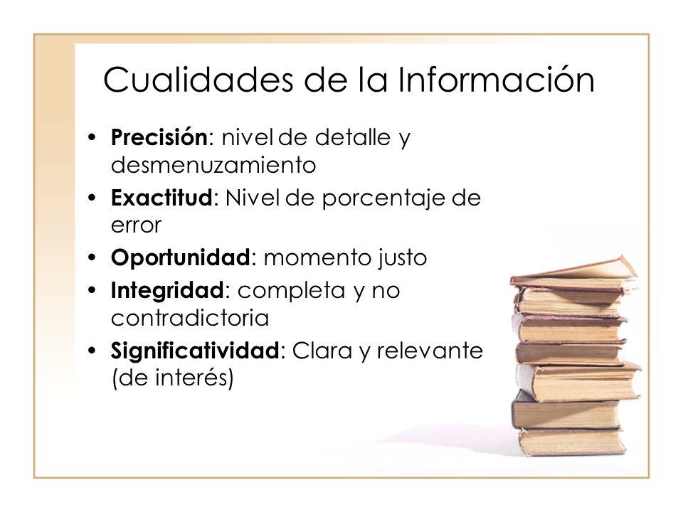 Cualidades de la Información