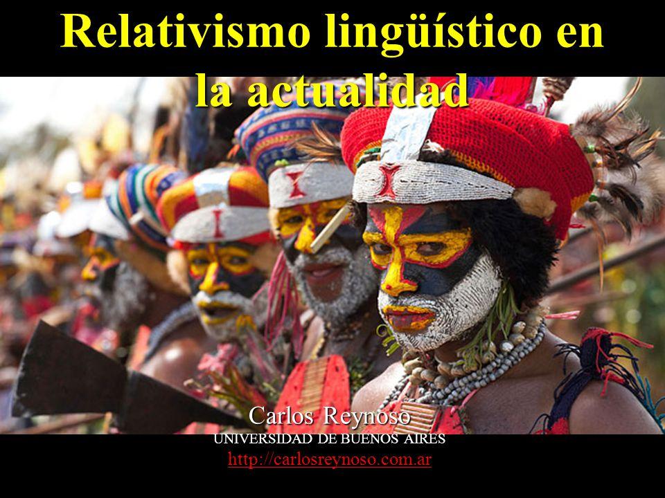 Relativismo lingüístico en la actualidad