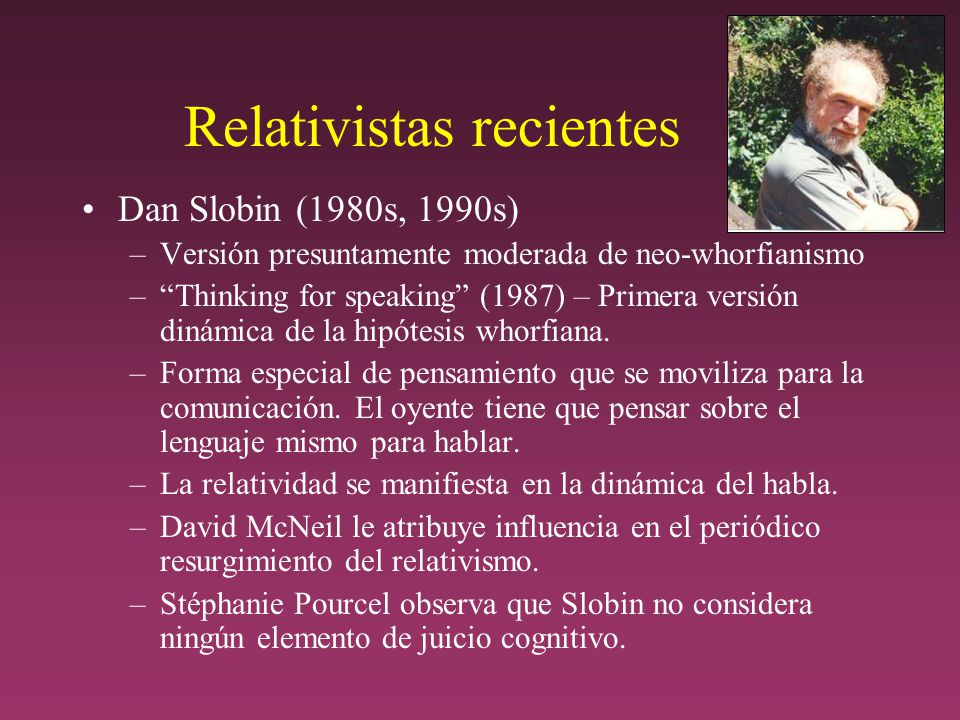 Relativistas recientes