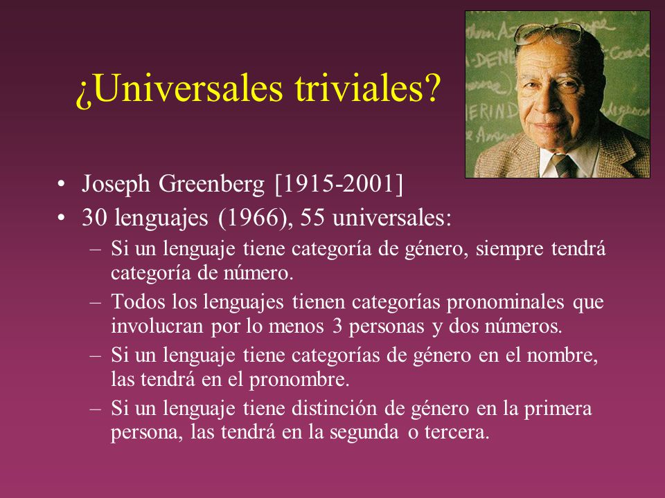 ¿Universales triviales