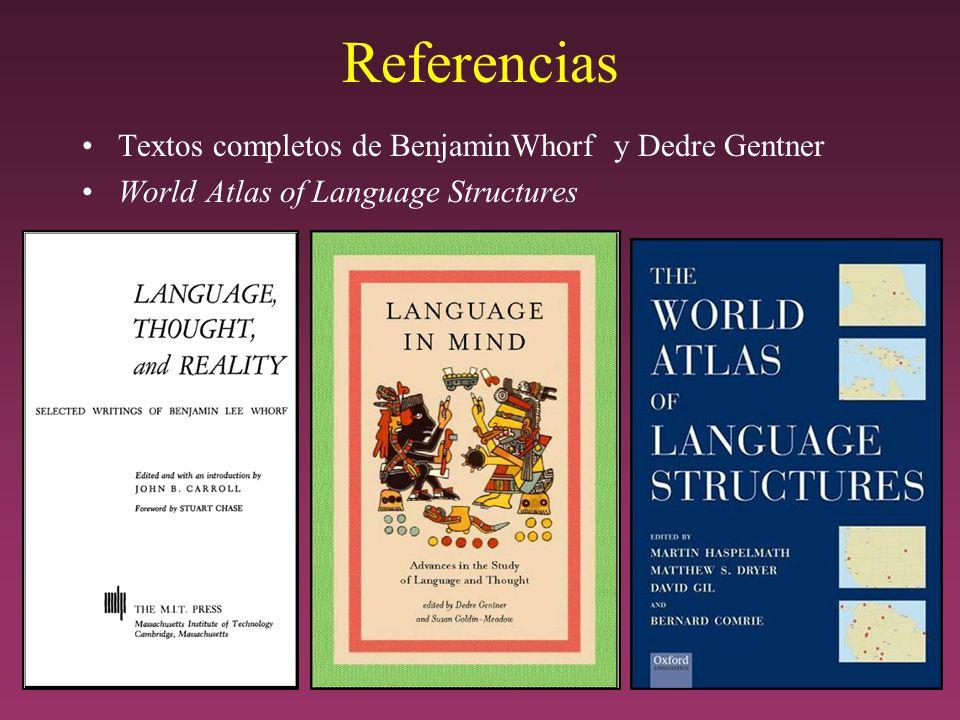 Referencias Textos completos de BenjaminWhorf y Dedre Gentner