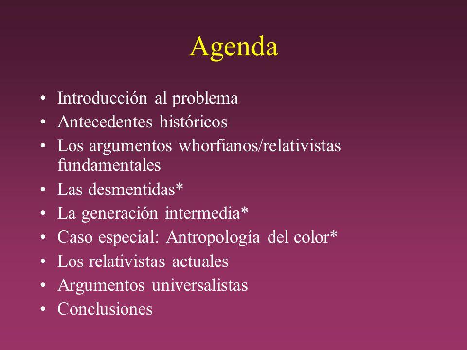 Agenda Introducción al problema Antecedentes históricos