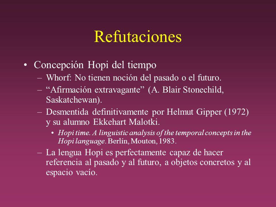Refutaciones Concepción Hopi del tiempo