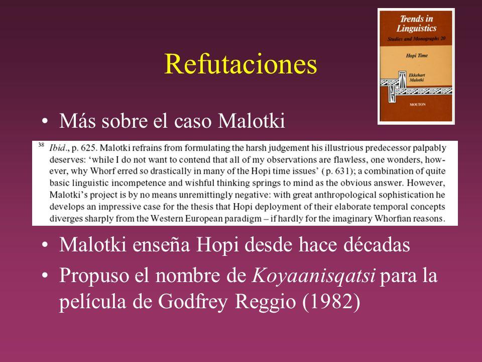 Refutaciones Más sobre el caso Malotki