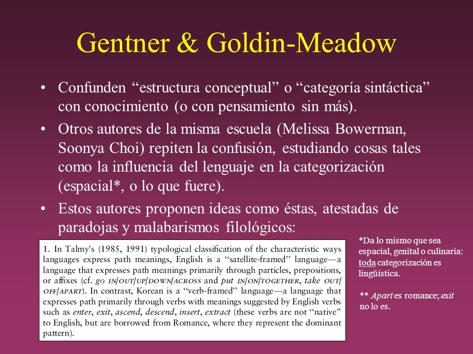 Gentner & Goldin-Meadow