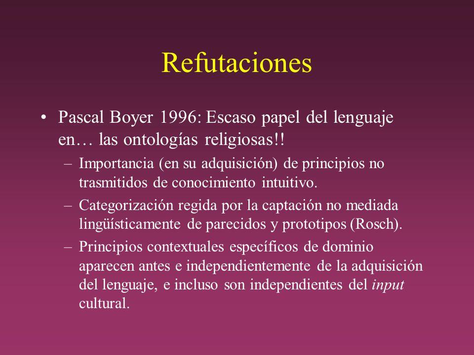 Refutaciones Pascal Boyer 1996: Escaso papel del lenguaje en… las ontologías religiosas!!