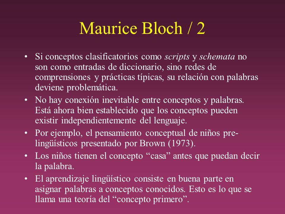Maurice Bloch / 2