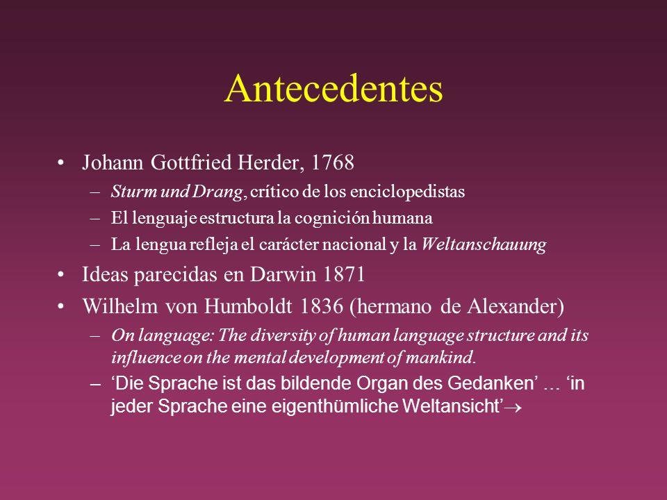 Antecedentes Johann Gottfried Herder, 1768
