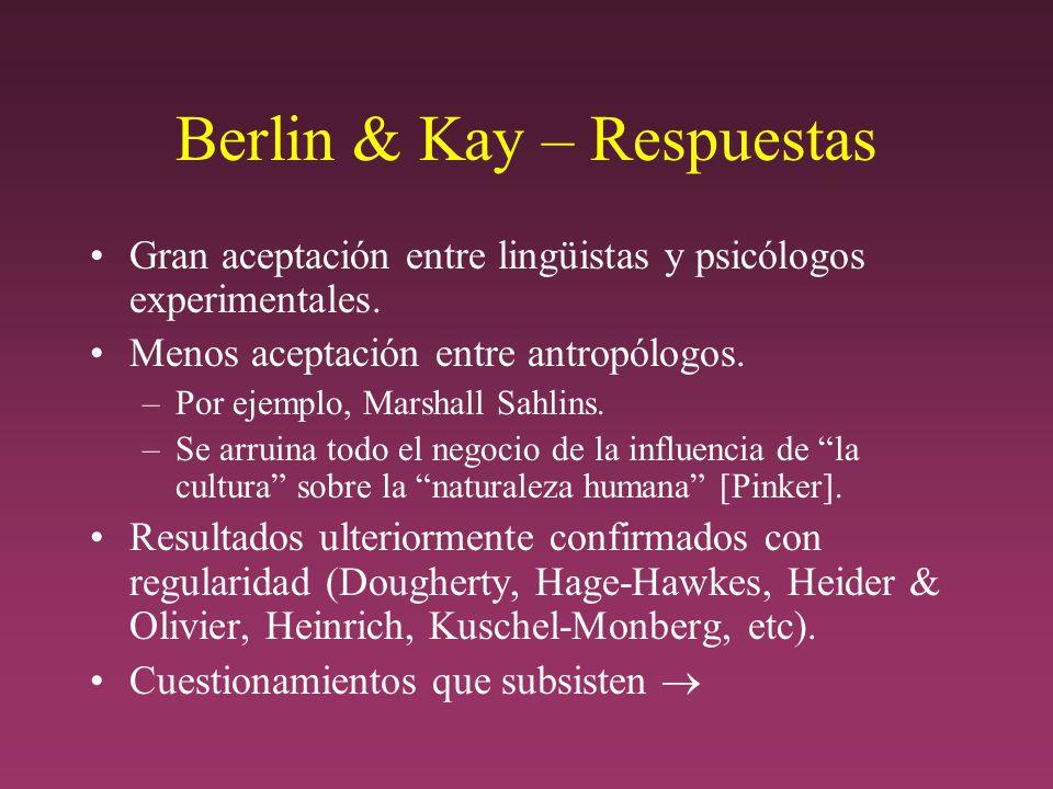 Berlin & Kay – Respuestas