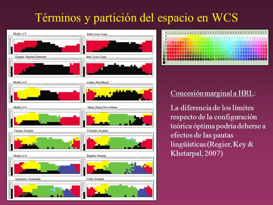Términos y partición del espacio en WCS