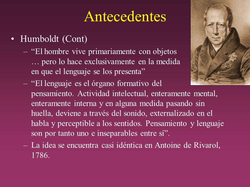 Antecedentes Humboldt (Cont)
