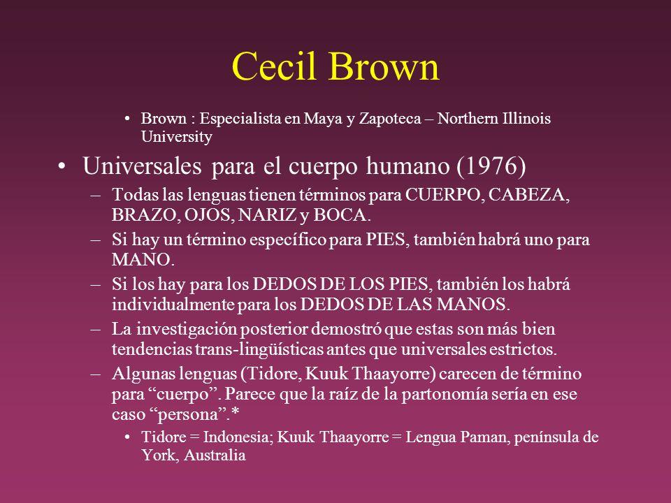 Cecil Brown Universales para el cuerpo humano (1976)