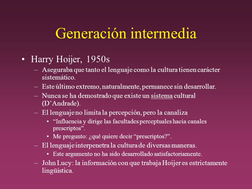 Generación intermedia