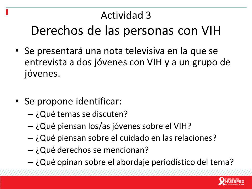 Actividad 3 Derechos de las personas con VIH