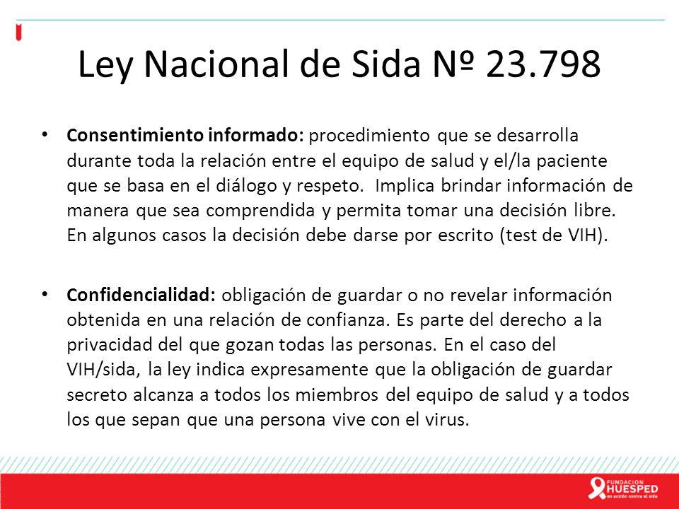 Ley Nacional de Sida Nº 23.798