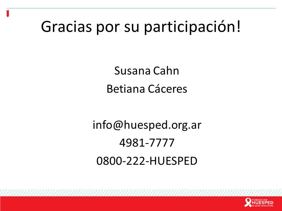 Gracias por su participación!